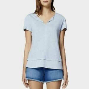 NWOT Sanctuary Uptown Tiered Hem Linen Tee, XL